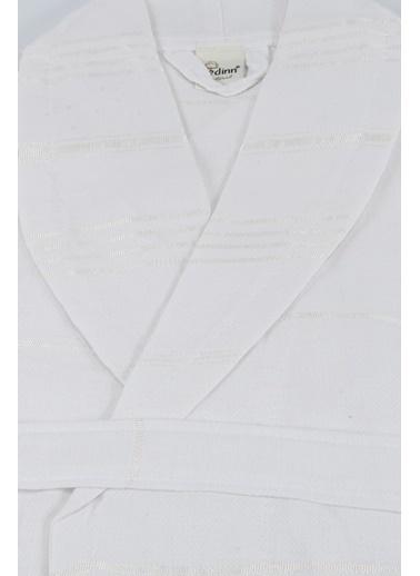 Bedinn N Standart Beden Şal Yaka Kol 57 Cm Göğüs 62 Cm Boy 107 Cm Pamuk Ipliği Yıkanabilir Peşteplaj Peştemal Bornoz Beyaz
